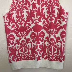 Lilly Pulitzer Tops - Lilly Pulitzer Tank Sweater Top Salmon and Beige